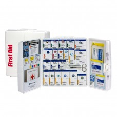 50 Person, Large SmartCompliance General Workplace First Aid Plastic Cabinet with Medications