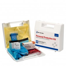 Personal Protection Kit, BBP (Blood borne Pathogen) Spill Clean Up Apparel Kit with CPR Pack, Plastic Case