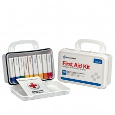 10 Unit First Aid Kit, Plastic Case
