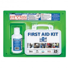 Contractor's First Aid Kit & Eyewash Station