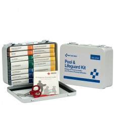 16 Unit Pool & Lifeguard First Aid Kit, Metal Case