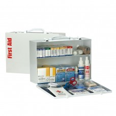 75 Person 2 Shelf First Aid Metal Cabinet, ANSI A+, Type I & II, with Medications