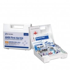 25 Person Bulk Plastic ANSI A, First Aid Kit with Dividers