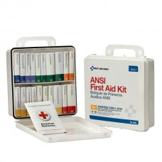 50 Person 24 First Aid Kit, Plastic, Weatherproof, Unit ANSI A+, Type III