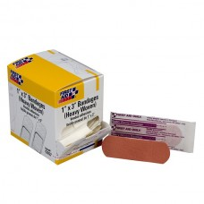"1""x3"" Heavy Woven Fabric Bandages, 50 Per Box"