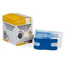 Blue Metal Detectable Fabric Knuckle Bandages, 40 Per Box