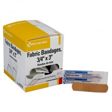 "3/4""x3"" Heavy Woven Fabric Bandages, 100 Per Box"